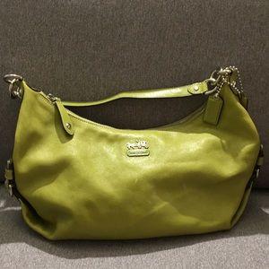 Coach green purse crossbody